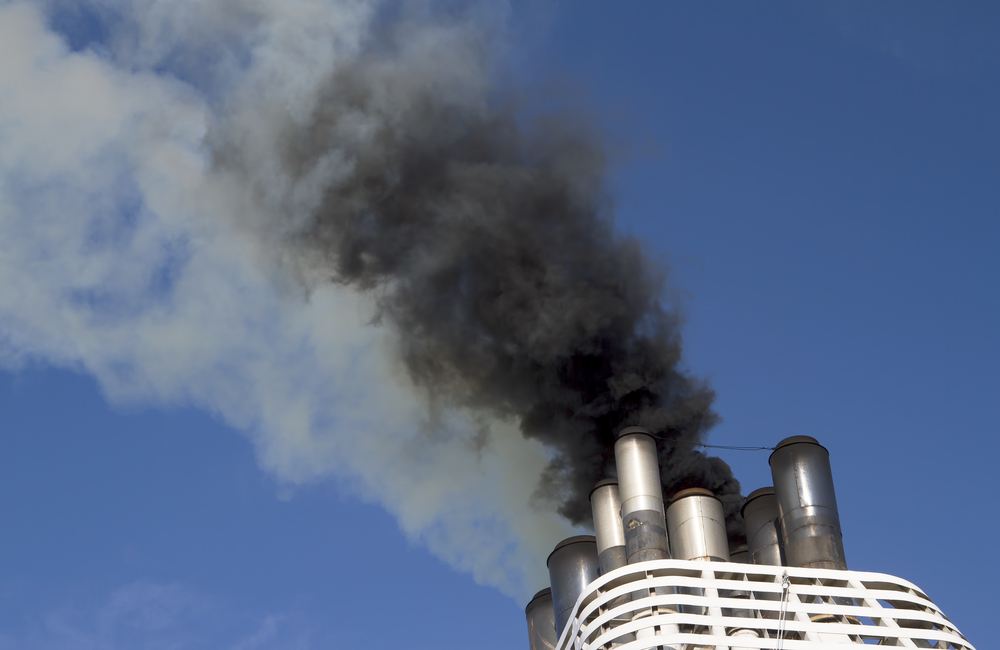 exhaust gas propagation of cruise liner during warm-up of engine